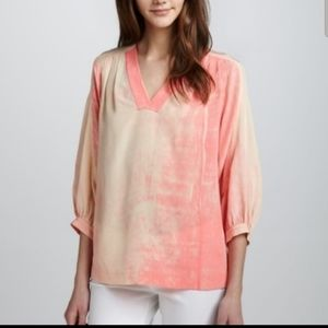 """DVF Pink """"New Cahlil"""" Silk Blous"""